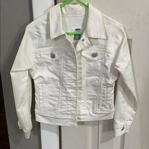 Kids white jean jacket